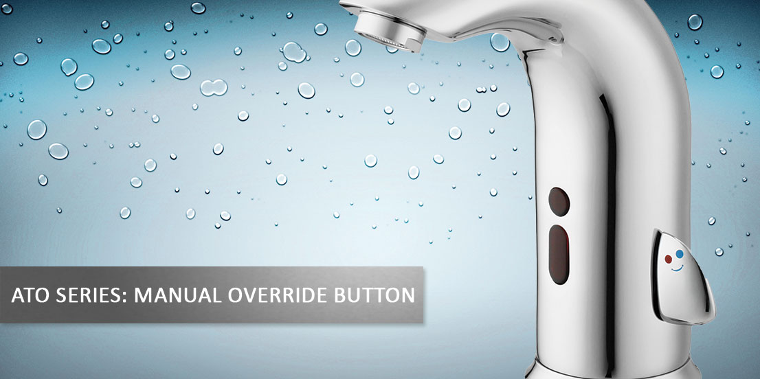 Sensor taps with manual override touch button